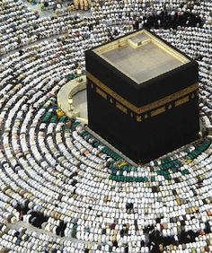 With the simple call to prayer, millions of people line up and align themselves to worship their Lord, Allah! - Makkah, Saudi Arabia