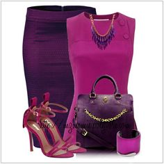 CHATA'S DAILY TIP: Pretty in pink! Our pink love affair continues in hues of fuchsia and gooseberry – an exciting alternative to your staple black pencil skirt. If you have a full bust, opt for a V-neckline or a lower round neckline. Ankle straps are hot fashion this season – keep the ankle strap slim to ensure your ankles are shown off to perfection. COPY CREDIT: Chata Romano Image Consultant, Marlise du Plessis http://chataromano.com/consultant/marlise-duplessis/ IMAGE CREDIT: Pinterest