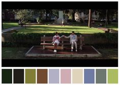 Cinema Palettes: Color palettes from famous movies - Forrest Gump