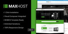 MaxHost - Web Hosting, WHMCS and Corporate Business WordPress Theme with WooCommerce Maxhost is a well designed professional web hosting and corporate business wp theme, that lets you launch a fully functional professional website in less than half an hour. It comes with WHMCS template || WooCommerce || Revolution Slider || Visual Composer Page Builder || MailChimp || Aweber || Mega Menu and many more strong features.