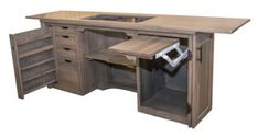 Up to Off Tulip Sewing Cabinet - Amish Outlet Store Sewing Machine Tables, Sewing Tables, Sewing Machine Cabinets, Armoire, Amish Crafts, Sewing Cabinet, Sewing Rooms, Sewing Spaces, Dovetail Drawers
