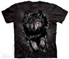 Breakthrough Wolf T-Shirt at theBIGzoo.com, a toy store featuring 3,000+ stuffed animals.
