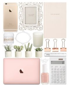 """""""What's On My Desk?"""" by m-olla ❤ liked on Polyvore featuring interior, interiors, interior design, home, home decor, interior decorating, Muji, Kate Spade, Essie and Allstate Floral"""