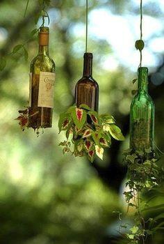 Aprende a reutilizar botellas de vidrio - Diseño