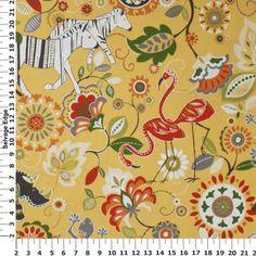 "45"" Home Decor Fabrics - Zulu Fruit Punch Pineapple Duck Fabric"