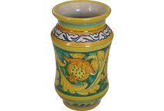 Hand-Painted Italian Cottura Vase on OneKingsLane.com