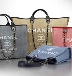 Chanel Deauville Canvas Tote Bag Reference Guide - Presenting the Chanel Deauville Tote Bag. This tote bag first originated from Chanel's Spring/Summer 2012 Collection and is the perfect tote for summer.
