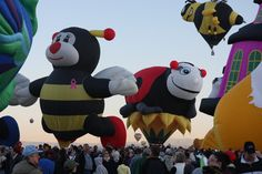 Kids and families love the special shape balloons at the International Balloon Fiesta!  www.balloonfiesta.com