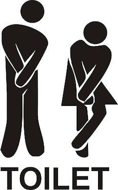 Funny Toilet Entrance Sign Decal Vinyl Sticker - Shops,Offices,Home,Cafe, Hotels