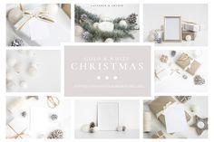 """다음 @Behance 프로젝트 확인: """"Gold & White Christmas bundle"""" https://www.behance.net/gallery/58861801/Gold-White-Christmas-bundle"""