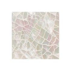 """Daltile Ocean Jewels 2"""" x 2"""" Crackled Accent Tile in Mother of Pearl ($16) ❤ liked on Polyvore"""