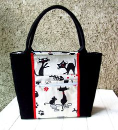 Bag with black cat