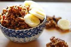Pumpkin Pie Granola - say Good Morning with this delicious granola! Low in sugar, high in protein and fiber, and full of love! http://www.nibsandgreens.com/pumpkin-pie-granola/