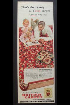 Vintage advert It Goes On, Cosy, Cool Stuff, Stuff To Buy, Carpet, Symbols, Frame, Vintage, Home Decor