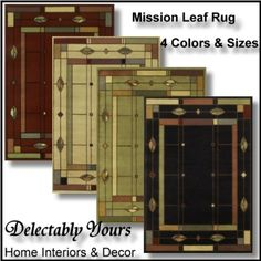 Mission Leaf Area Rug From Timber Creek Collection By