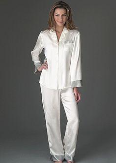 Silk pajamas i need a white pair