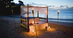 beds on the beach | Experience a romantic interlude on the beach in a