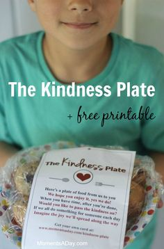 Awesome project for kids The Kindness Plate get a free printable poem to use here