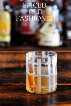 This Spiced Old Fashioned is made with spiced simple syrup. We used  cinnamon, star anise and clove in the syrup. With whiskey and bitters,  this fall and winter twist on a classic is a winner! #whiskey #cocktails  #bitters