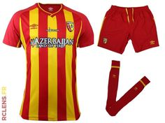 RC Lens Home 2014/2015 kit Rc Lens, Sang, Football Kits, Pajama Pants, Pajamas, Club, Sports, Soccer Kits, Pjs