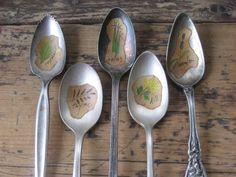 Vintage Spoon Herb Markers Bundle from Beekman 1802