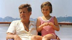 "JFK and Caroline aboard the ""Honey Fitz."" (Cecil Stoughton/JFK Library)"