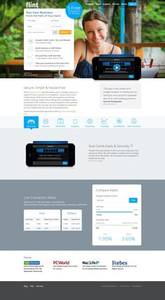 flint landing page sign-up - Interesting layout with key points below the form and a full-width banner image. Landing Page Examples, Best Landing Pages, Landing Page Inspiration, Form Design, Web Design, Social Proof, Word Free, Banner Images
