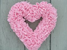Pink Heart Wreath  Baby Girl Wreath  Baby by LushWreathWorks, $45.00
