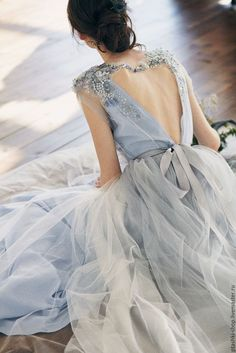 Glamor A-Line Prom Dresses V-Neck Tulle evening dress beading formal gowns cheap backless party dress hot - Style Evening Dresses A Line Prom Dresses, Wedding Party Dresses, Evening Dresses, Dress Party, Wedding Dress Blue, Party Wedding, Wedding Dress Casual, Ethereal Wedding Dress, Beaded Evening Gowns