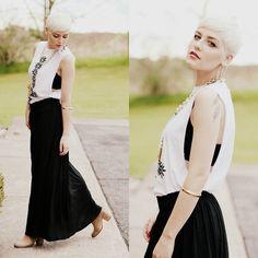 Jawbreaking Top, Cotton On Necklace, H Skirt, By Samii Ryan Bangle, Steve Madden Boots