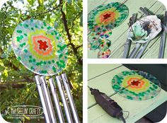 Melted Bead Sun Catchers-I'm Feelin' Crafty- Windchime