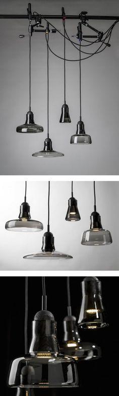 Colección de lámparas Shadows para la marca BROKIS, diseñadas por Dan Yaffet y Lucie Koldova.