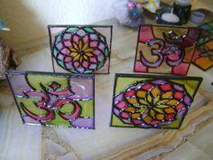 fanales artesanales en falso vitraux ( vidrio pintado) Gypsy Style, Lanterns, Cube, Coasters, Scrap, Crafty, Toys, Glass Paint, Painting