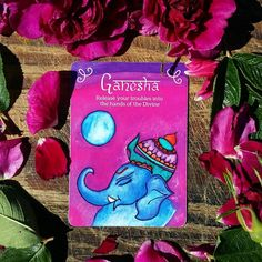 Ganesha is the remover of obstacles, both spiritual and material. He also places obstacles in the path of those in need of guidance. Release all your challenges into the hands of Ganesha and let him guide you.