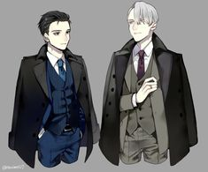 Viktor, Yuuri, suits, outfits, cool; Yuri!!! on Ice