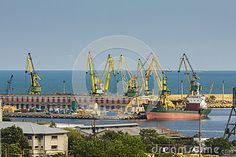 Download this Editorial Photography of Commercial Harbor With Cargo Ship And Cranes for as low as 0.68 lei. New users enjoy 60% OFF. 22,135,678 high-resolution stock photos and vector illustrations. Image: 38730032