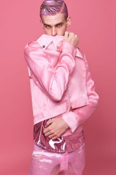 Pretty in pink Dolly Fashion, Queer Fashion, Androgynous Fashion, Fashion Art, Mens Fashion, Fashion Outfits, Provocateur, Fashion Photography, Menswear