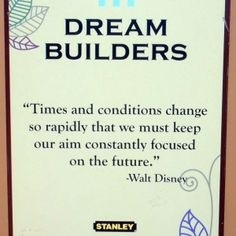 Dream Builder sign at Walt Disney World