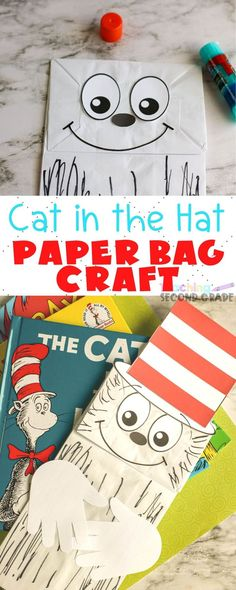 This Dr. Seuss Paper Bag Puppet is one of the best craft ideas out there. Your kids get to learn about Dr. Seuss - all while having fun! Paper Bag Crafts, Hat Crafts, Fish Crafts, Easy Crafts For Kids, Diy Arts And Crafts, Art For Kids, Kid Art, Spring Activities, Book Activities