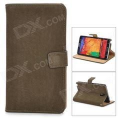 Color: Dark Brown; Brand: N/A; Model: N/A; Material: PU leather; Quantity: 1 Piece; Compatible Models: Samsung Galaxy Note 3 N9000; Other Features: Protects your device from scratches, dust and shock; Packing List: 1 x Protective case; http://j.mp/VIO6Mp