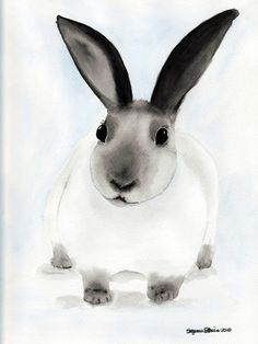 Snow Bunny  Free Shipping by SuzannesArt on Etsy, $20.00