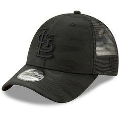 outlet store 74a5d 12f22 Men s St. Louis Cardinals New Era Black Black Camo Tonal Trucker 9FORTY Adjustable  Hat, Your Price   25.99