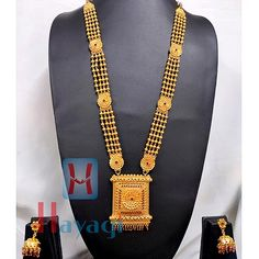 1 Gram Fancy Necklace With Square Pendant Indian Gold Necklace Designs, Indian Jewelry Sets, Gold Earrings Designs, 1 Gram Gold Jewellery, Gold Jewelry, Beaded Jewelry, Jewelry Bracelets, Gold Bangles Design, Gold Jewellery Design