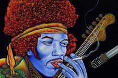 Jimi In Thought by Nannette Harris
