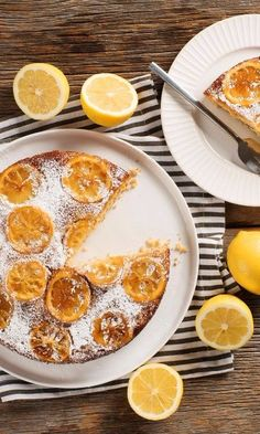 Upside Down Lemon Cake-This super easy Upside Down Lemon Cake is bursting with bright lemon flavors. Great recipe for beginning bakers, this dessert will impress your guests. Great for a spring or summer get together, picnic or party - you can serve this on Easter Sunday for a citrusy sweet treat.