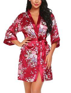 Femme Ex-High Street Lightweight Wrap Over Peignoir Robe De Chambre S M L