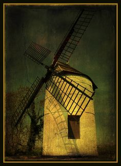 """Ashton Windmill, Somerset. 18th century flour mill stands on the """"Isle of Wedmore"""""""