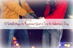 Some wonderful ways for married couples to reconnect easily just in time for Valentine's Day including date ideas plus Fiera.