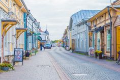 Cafés and boutique shops lace the heart of Vanha Rauma.