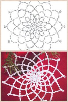 The snowflakes crochet pattern is a good guideline to knit the crochet products. There are some crochet patterns that can be chosen for knitting. Every crochet pattern is like a magical pattern and motif. Appliques Au Crochet, Crochet Motifs, Crochet Diagram, Thread Crochet, Filet Crochet, Crochet Crafts, Crochet Doilies, Crochet Flowers, Crochet Stitches